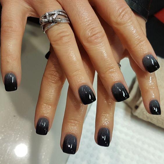 black sns nails